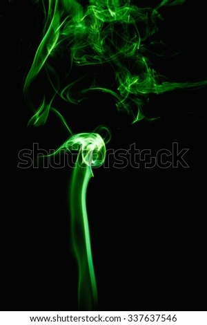 Green Smoke abstract background.