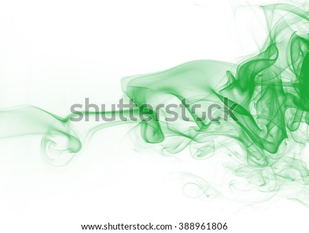 green smoke on white background, smoke background, green ink background, beautiful green smoke