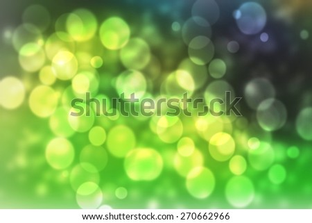 green smooth abstract colorful background with beautiful twinkling bokeh - stock photo