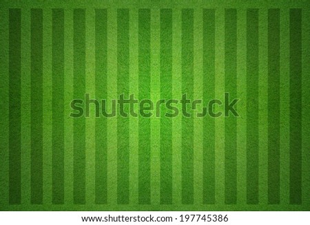 green soccer field from top view. - stock photo