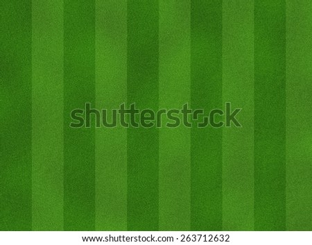 green soccer field from top view - stock photo