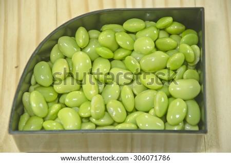 Green Soybean or Japanese soybean (edamame) - stock photo