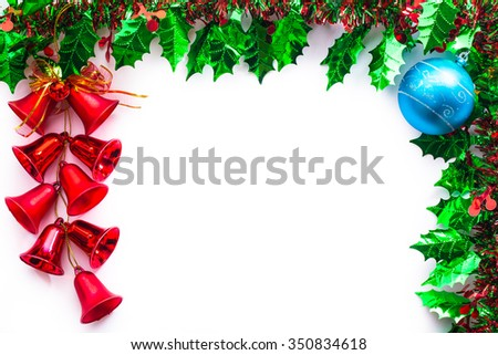 Green Spruce Christmas Frame Picture Frame Stock Photo (Royalty Free ...