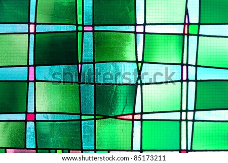 Green square background - stock photo