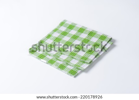 green square pattern kitchen towel
