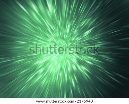 green starburst - stock photo