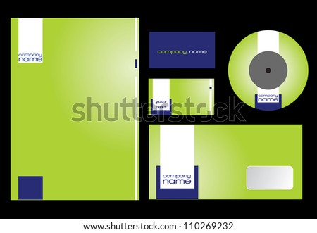 Green stationary design.