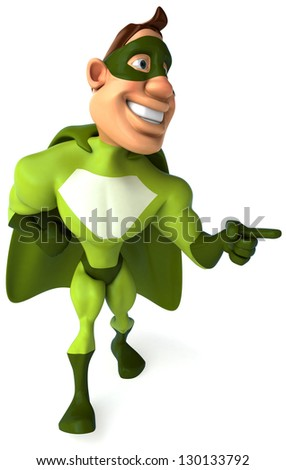 Green superhero - stock photo