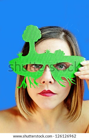 green sustainably - stock photo