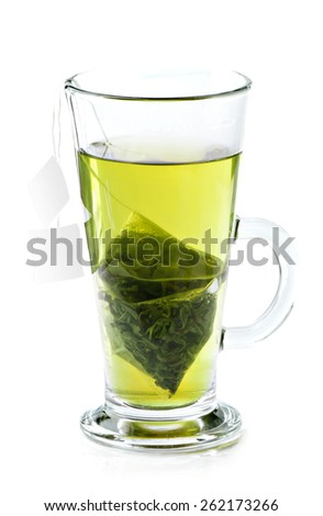 Green tea . - stock photo
