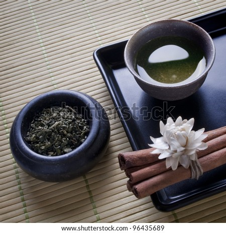 green tea - still life