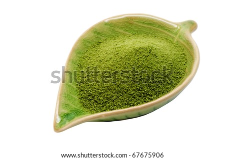 green tea  with clipping path - stock photo