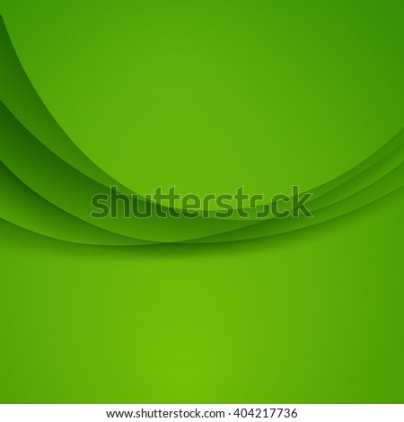 Green Template Abstract background with curves lines and shadow. For flyer, brochure, booklet and websites design - stock photo