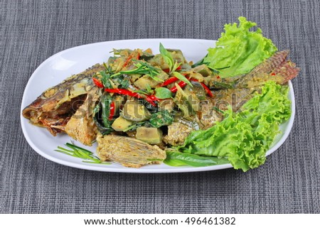 curry in coconut milk is popular thai cuisine green tilapia fish curry ...