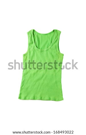 green top isolated on white background