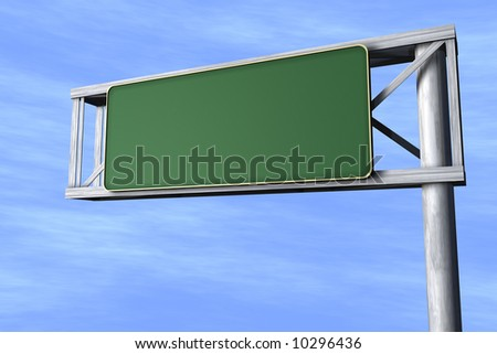 Green Traffic Sign - stock photo