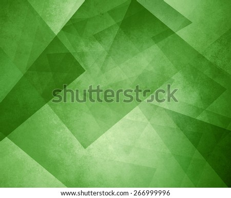 green triangle background. elegant layers of blocks and triangular shapes in random pattern. - stock photo