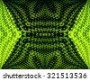 Green triangle Optical illusion background - stock vector