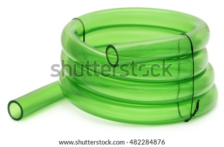 Green Tubing isolated over white background
