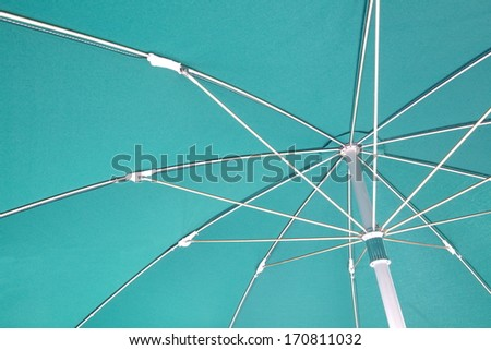 Green Umbrella.  - stock photo
