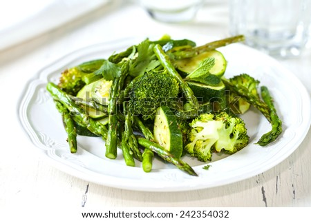 Green vegetables - stock photo