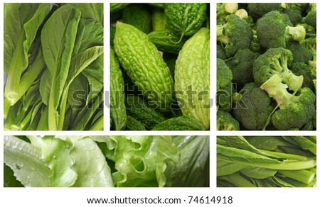Green Vegetables for a Healthy Eating Lifestyle - stock photo