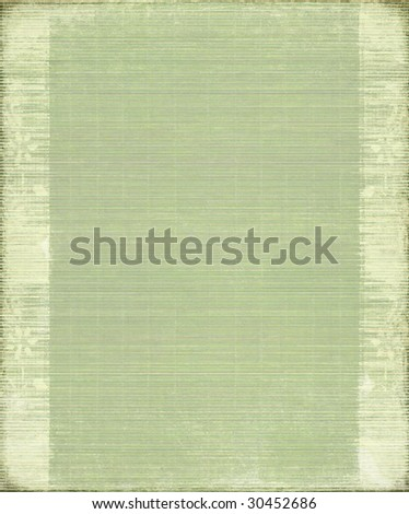 green vintage bamboo ribbed background with frame - stock photo