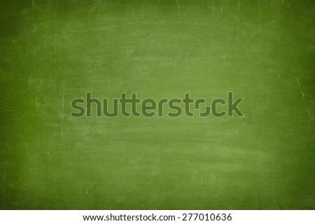 Green vintage full frame blank blackboard no frame - stock photo