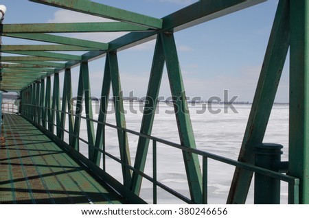 green walking bridge