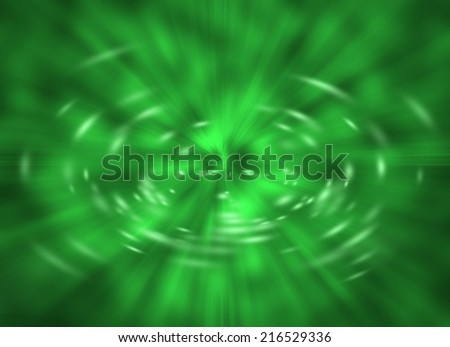 Green Warp with Dedicated Space for Text - stock photo