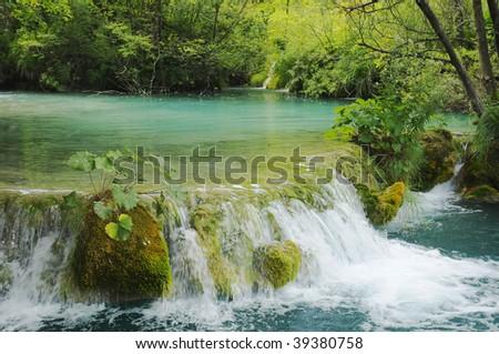 green water - stock photo