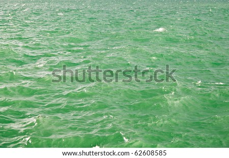 Green water abstract background - stock photo