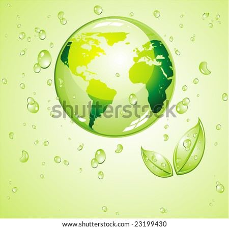 Green Water background for an ecology background or brochure