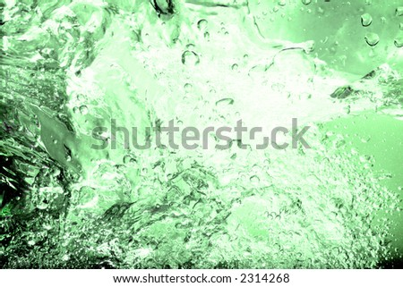 Green Water splash abstract background - stock photo