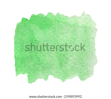 Green watercolor abstract background or texture - stock photo