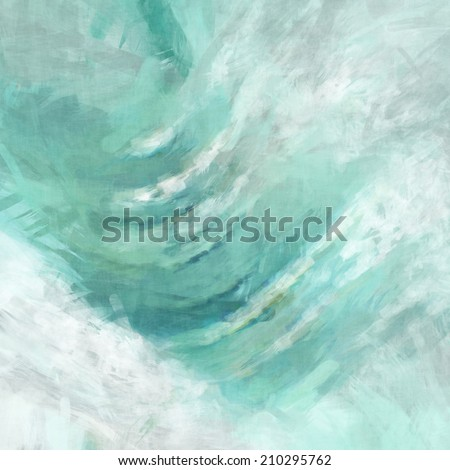 green watercolor background - stock photo