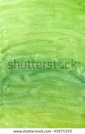 Green watercolor background (handmade)