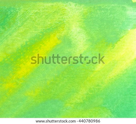 Green watercolor striped texture background with space for text. Hand paint brush texture. Dynamic Brush Stroke.  - stock photo