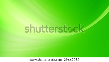 Green wave on dynamic background. Abstract illustration