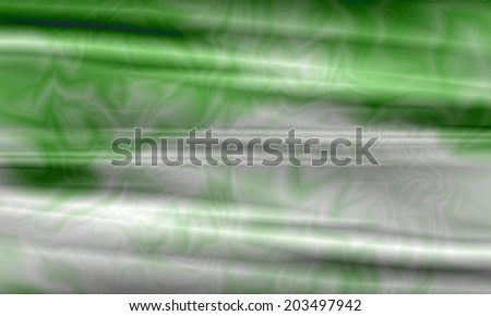 Green waves abstract background - stock photo
