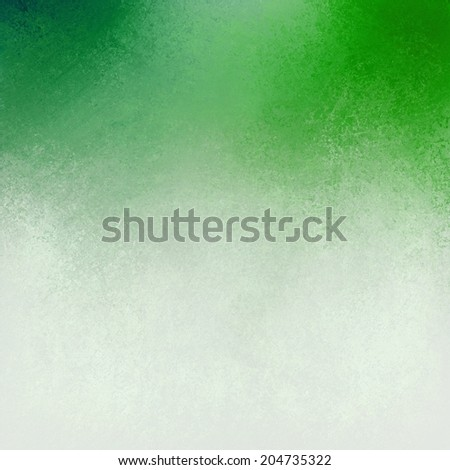 green white background layout, blended green and white paint with old pitted detailed texture, aged distressed vintage green white Christmas background - stock photo
