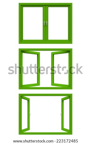 Green Window Frame Stock Illustration 223172485 - Shutterstock
