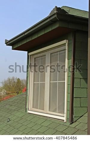 Green window - Stock Image. - stock photo