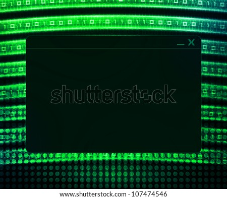 Green Window Technology Concept Background - stock photo