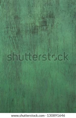 Green Wood Background - stock photo
