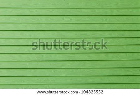 green wood panels background - stock photo