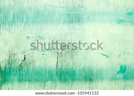 Green wood texture - stock photo