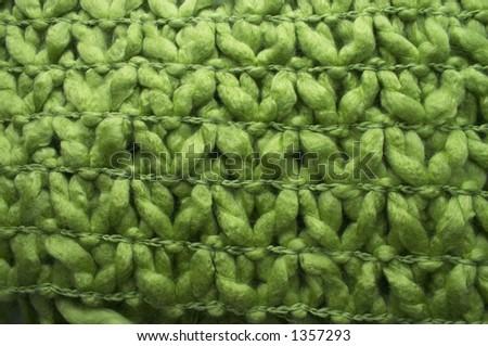 green wool - stock photo