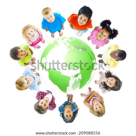 Green World for Kids - stock photo