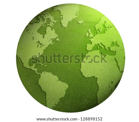 Green World globe - stock photo